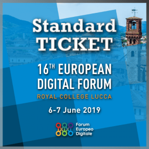Standard Ticket | Forum Europeo Digitale 2019