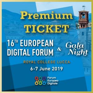 Premium Ticket | Forum Europeo Digitale 2019